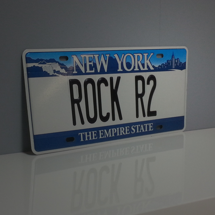 Plaque d'immatriculation New York personnalisée Rock'R²
